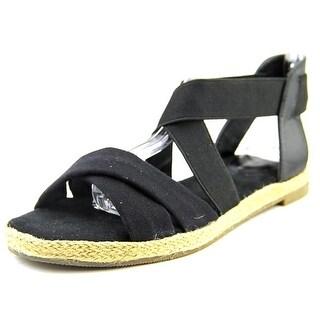 Giani Bernini Colbey Women Open Toe Canvas Black Gladiator Sandal