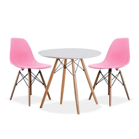Porthos Home Galan 3-piece Dining Set, 1 Table And 2 Chairs