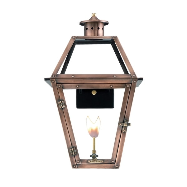 """Primo Lanterns OL-22G Orleans 14"""" Wide Outdoor Wall-Mounted Lantern Natural Gas Configuration - Copper - n/a"""