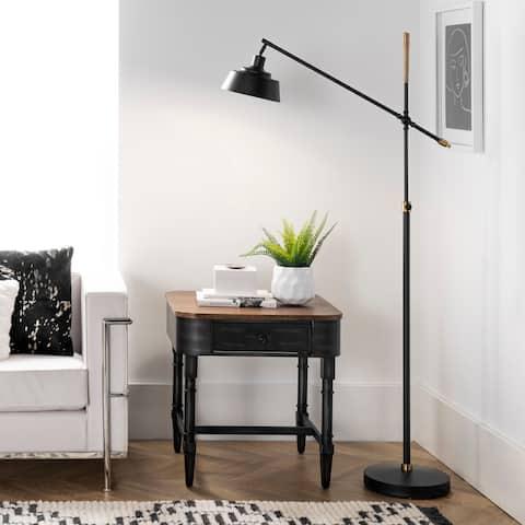 """nuLOOM Aviva 64"""" Iron Floor Lamp - 12"""" W x 12"""" D x 64"""" H"""