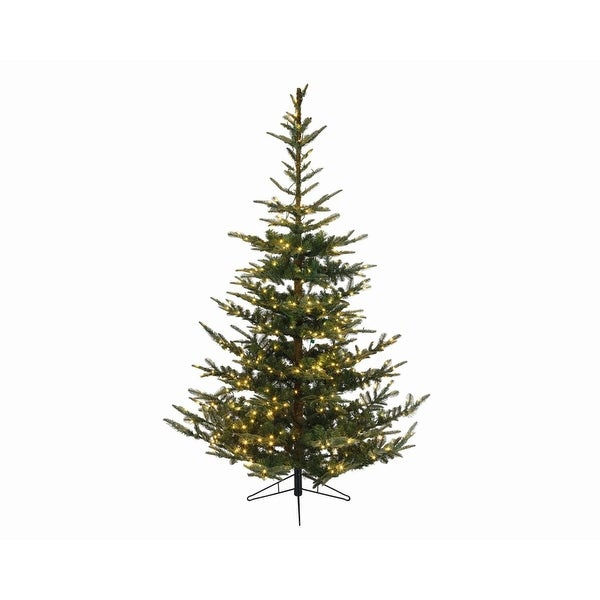 "7.5' x 58"" Pre-Lit Everlands Nobilis Fir Artificial Christmas Tree - Warm Clear LED Lights"
