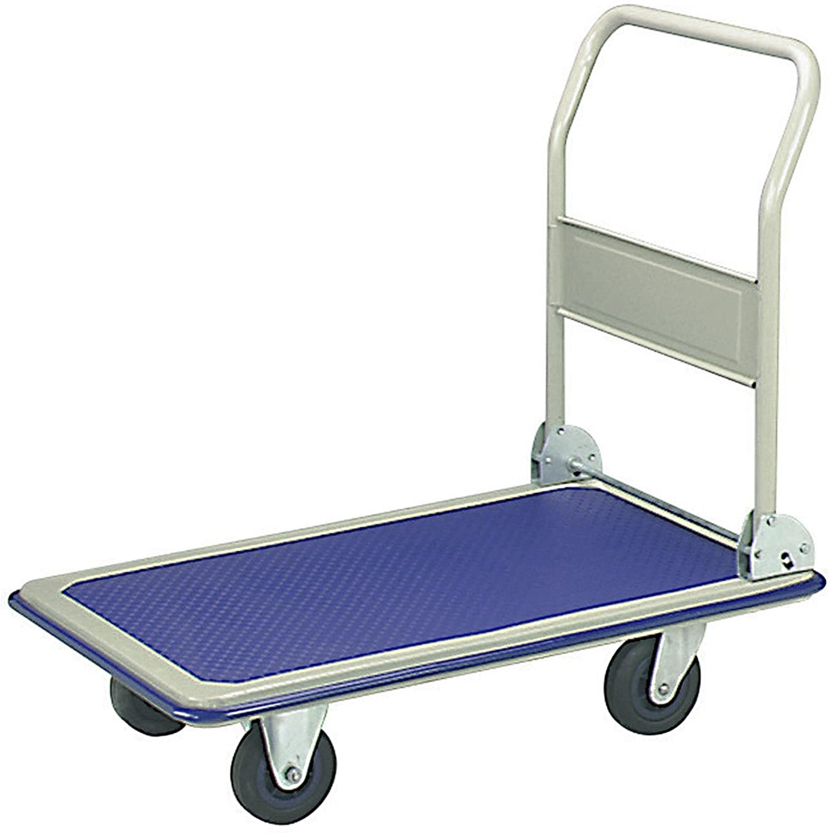 Shop Black Friday Deals On Aleko Push Hand Truck Folding Platform Cart 4 Wheel Dolly Overstock 20699172