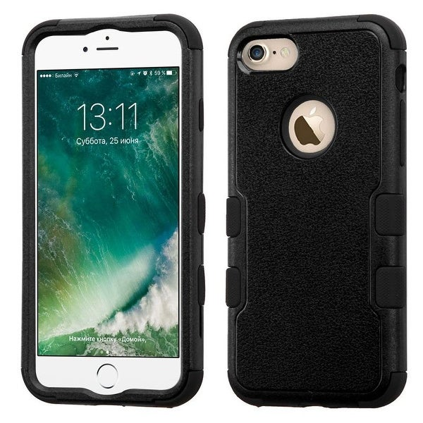 Insten Tuff Hard PC/ Silicone Rubberized Dual Layer Hybrid Matte Case Cover For Apple iPhone 7