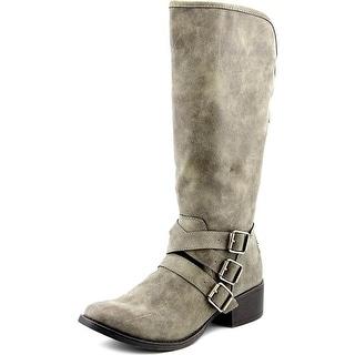Madden Girl Dakotaaa Round Toe Synthetic Mid Calf Boot