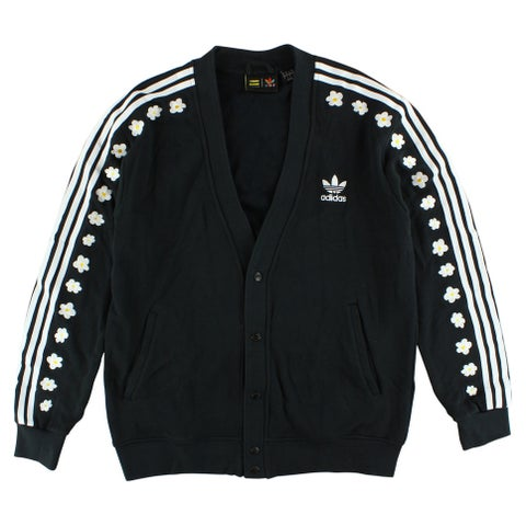Adidas Mens Originals X Pharrell Williams Logo Cardigan Black - BLACK/WHITE - XL