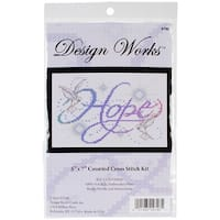 "Hope Counted Cross Stitch Kit-5""X7"" 14 Count"