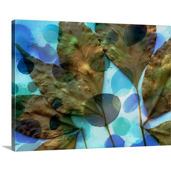 """Spotted Leaves"" Canvas Wall Art"