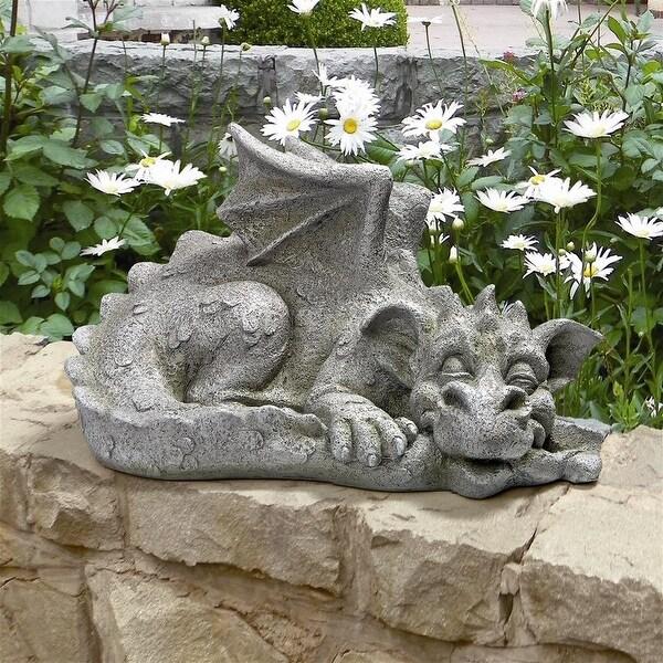 Design Toscano Blushing Babel, the Bashful Dragon Statue