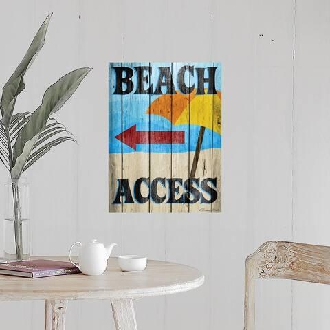 """Beach Access"" Poster Print"