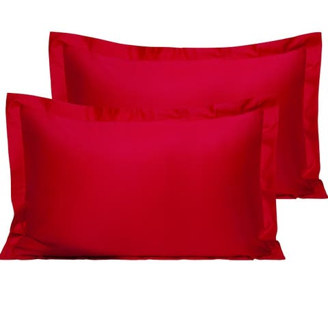 NTBAY Super Soft Luxury Solid Color Cotton Standard & Queen & King Pillow Shams (Set of 2)