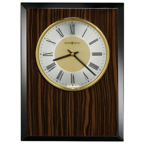 Howard Miller Honor Time Tempo Modern, Traditional, Sleek and Transitional Wall Clock on Commemorative Plaque