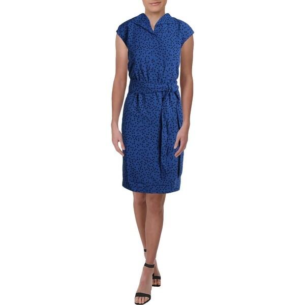 fadbd286166 Shop Anne Klein Womens Shirtdress Cap Sleeves Polka Dot - S - Free ...