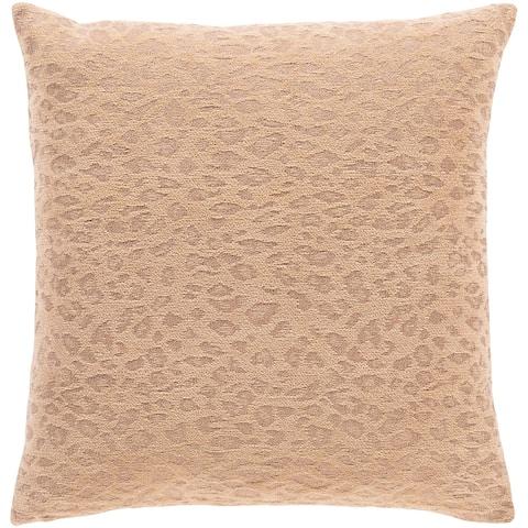 Mauro Jacquard Cheetah Cotton Throw Pillow