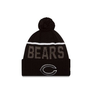 New Era Chicago Bears 2015 Black Sport Knit Hat