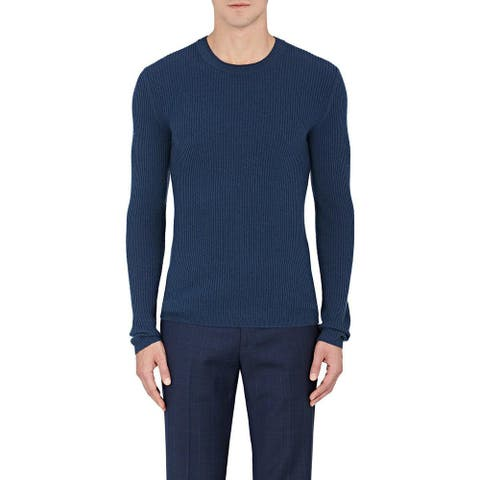 Theory Men's Veros C Cashmere Sweater, Blue, Medium