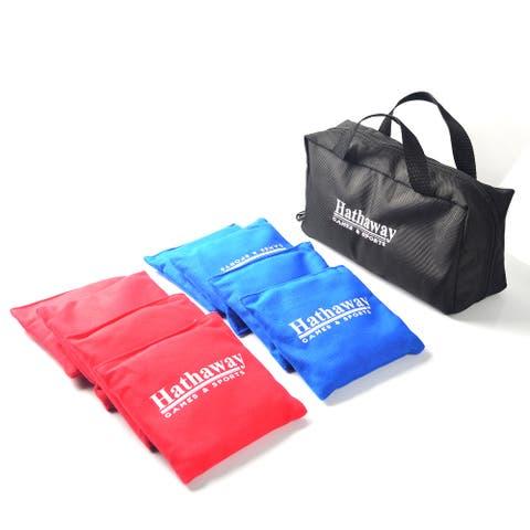 Regulation Cornhole Bag Set with Included Case - Red/Blue