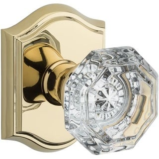 Baldwin HD.CRY.TAR Crystal Single Dummy Door Knob with Traditional Arch Trim from the Reserve Collection (More options available)