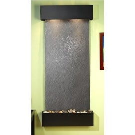 Adagio Inspiration Falls Wall Fountain Black FeatherStone Blackened Copper - IFS