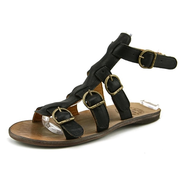 Fiorentini + Baker Thea-s Women Open Toe Leather Black Gladiator Sandal