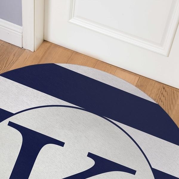 MONO NAVY STRIPED K Indoor Floor Mat By Kavka Designs. Opens flyout.