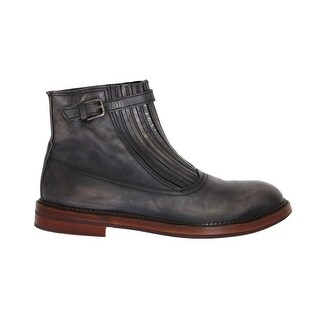 Dolce & Gabbana Gray Leather Ankle Stretch Boots - eu44-us11