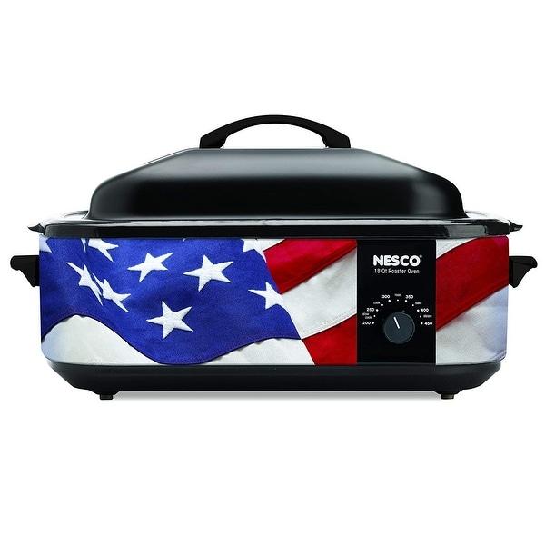 Nesco 4818-76 Patriotic Roaster Oven, 18-Quart, Red/White/Blue
