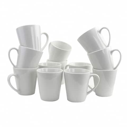 Gibson Home Noble Court 12 Piece 12 oz. Mug Set in White
