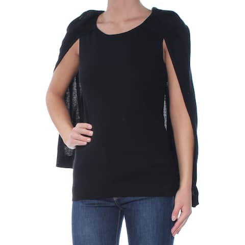 KOBI Womens Black Overlay Sleeveless Scoop Neck Sweater Size: XS