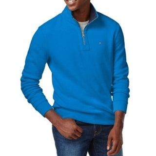 Tommy Hilfiger NEW Bright Blue Mens Size XL Pullover 1/2 Zip Sweater