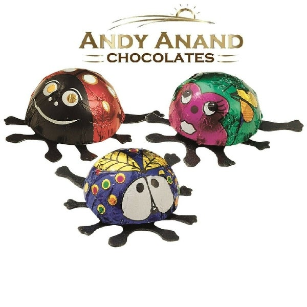 Andy Anand Belgian Milk Foiled Lady Bugs Gift Boxed. Opens flyout.