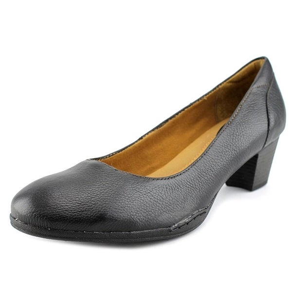 Montana Courtney Women Round Toe Leather Black Heels