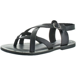 Lucky Brand Jeans Adinis Womens Leather Flat Sandal