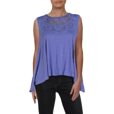 Free People Womens Meant To Be Tank Top Embroidered Swing