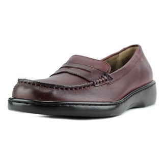 Array Tracy Women W Round Toe Leather Burgundy Loafer