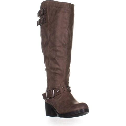 Carlos by Carlos Santana Cara Wide Calf Knee-High Boots, Taupe