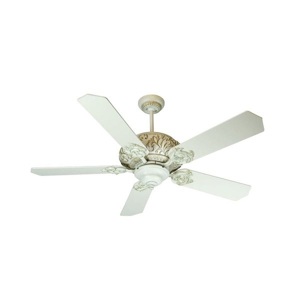 """Craftmade K10727 Ophelia 52"""" 5 Blade Energy Star Indoor Ceiling Fan - Blades Included - antique white distressed"""