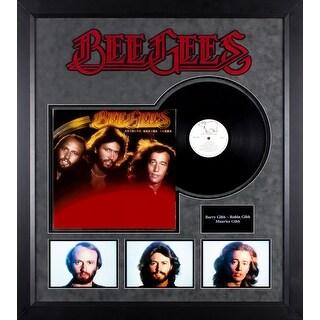 Bee Gees - Spirits Having Flown - Vintage Vinyl Album Custom Framed Collage