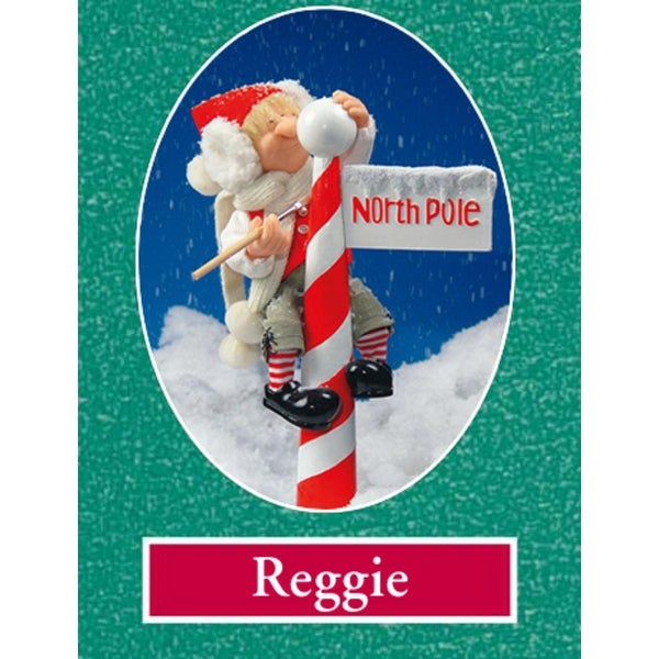 "16"" Zims The Elves Themselves Reggie at N. Pole Collectible Christmas Elf Figure - multi"
