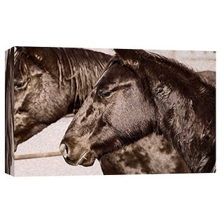 """PTM Images 9-101869  PTM Canvas Collection 8"""" x 10"""" - """"Horse Fort Ranch 22"""" Giclee Horses Art Print on Canvas"""