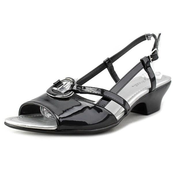 Easy Street Tempe Women Open Toe Synthetic Black Sandals