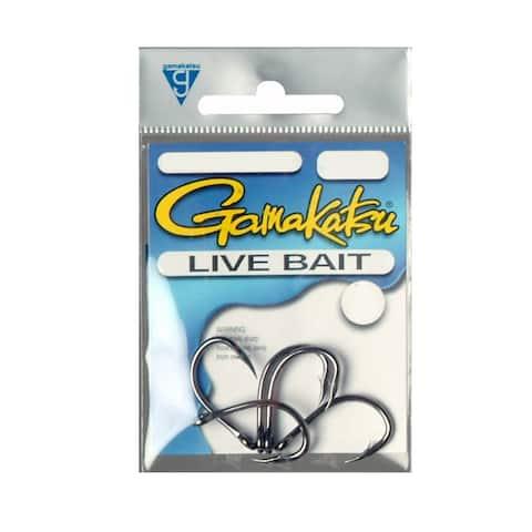 Gamakatsu 18415 live bait ns blk 5/0 4 hk per
