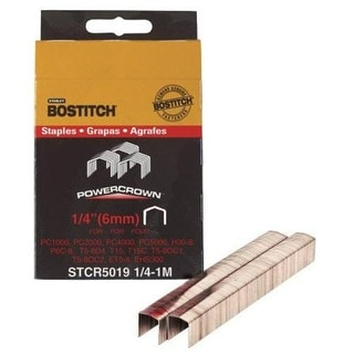 "Stanley Bostitch STCR50191/4-1M Crown Staples, 1/4"""