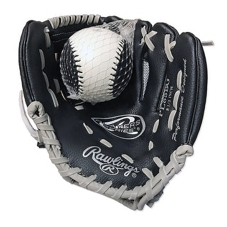 Rawlings HIBPL85BG Player Series 9 Black RHT Baseball Glove - Black/silver