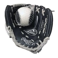 Rawlings HIBPL85BG Player Series 9 Black RHT Baseball Glove - Black/silver