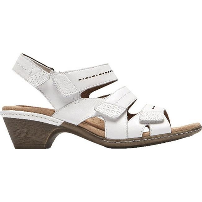2262d21f395 Shop Rockport Women s Cobb Hill Verona Strappy Sandal White Leather - On  Sale - Free Shipping Today - Overstock - 20197870