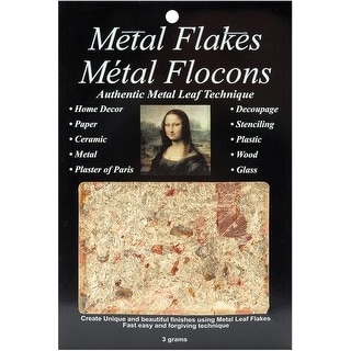 Mona Lisa Metal Leaf Flakes 3g-Variegated Gold