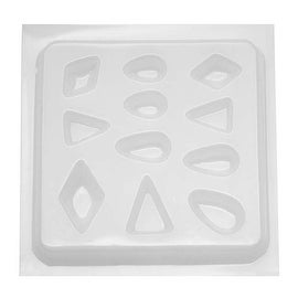 Resin Epoxy Mold For Jewelry Casting - 11 Assorted Jewels Triangles & Tear Drops