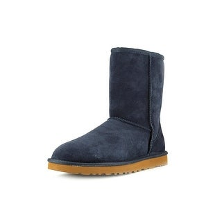 Ugg Australia Classic Short  Women  Round Toe Suede Blue Winter Boot