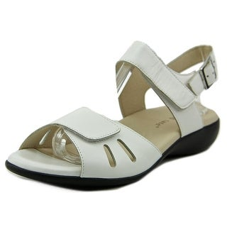 David Tate Lolita Women W Open-Toe Leather White Slingback Sandal