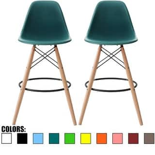 2xhome Set Of 2 26 Inch Modern Chair Colors Dsw Counter Height Stool Barstool With